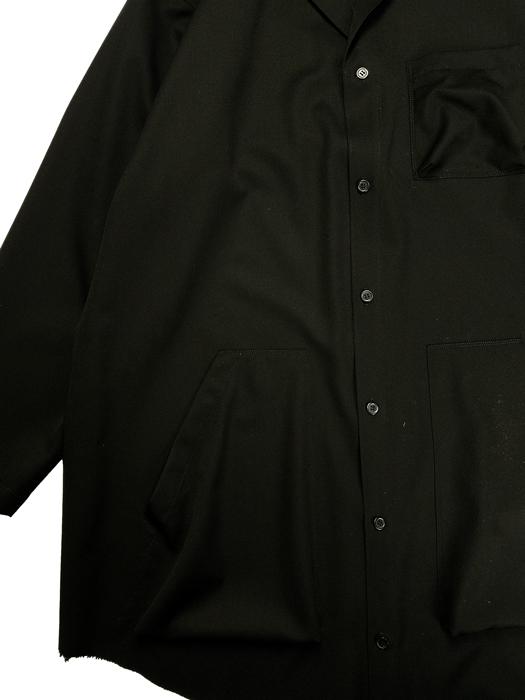 sulvam サルバム Classic shirt クラシックシャツ ブラック SN-B50-100