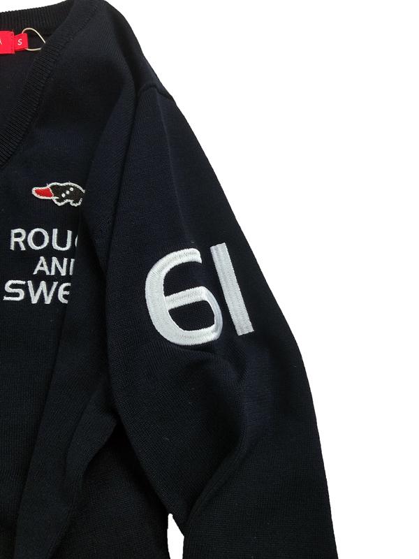 【WOMEN】 rough&swell for WOMEN ラフアンドスウェル ウィメン CROWN V-NECK W. Vネックニット ネイビー RSL-21018 / ゴルフウェア レディース ラフ&スウェル