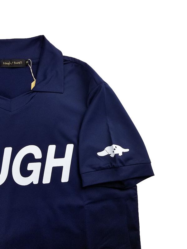 rough&swell ラフアンドスウェル BIG LOGO SKIPPER スキッパーポロシャツ ネイビー RSM-21038 / ゴルフウェア メンズ ラフ&スウェル