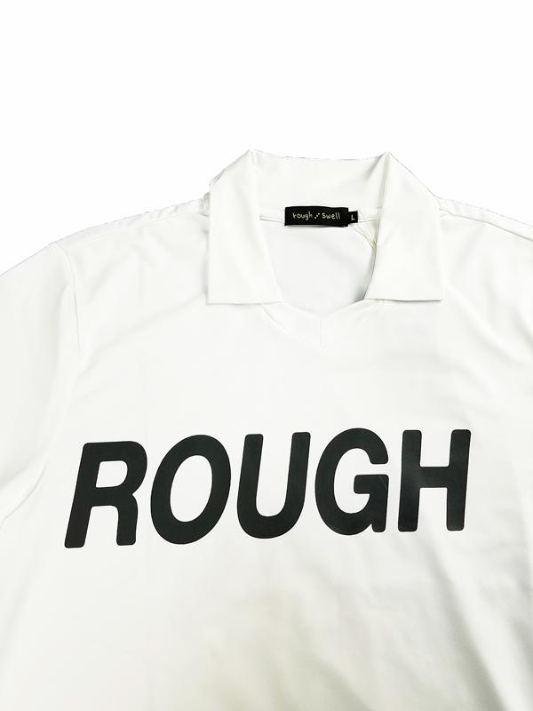 rough&swell ラフアンドスウェル BIG LOGO SKIPPER スキッパーポロシャツ ホワイト RSM-21038 / ゴルフウェア メンズ ラフ&スウェル
