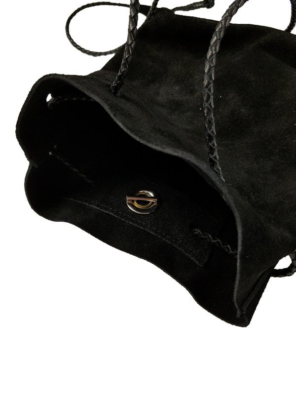 White Mountaineering ホワイトマウンテニアリング SUEDE SHOULDER BAG ショルダーバッグ ブラック WM2173810