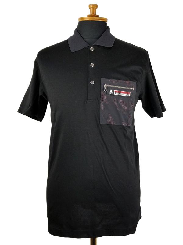 MARK&LONA マークアンドロナ ポロシャツ ブラック Speck Polo   MEN MLM-9A-AP19