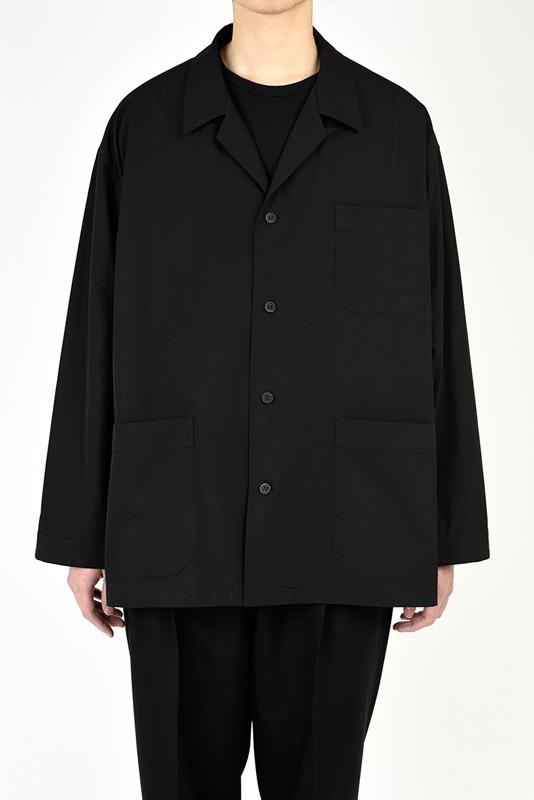 LAD MUSICIAN ラッドミュージシャン BIG PAJAMA SHIRT ビッグパジャマシャツ ブラック 2121-102