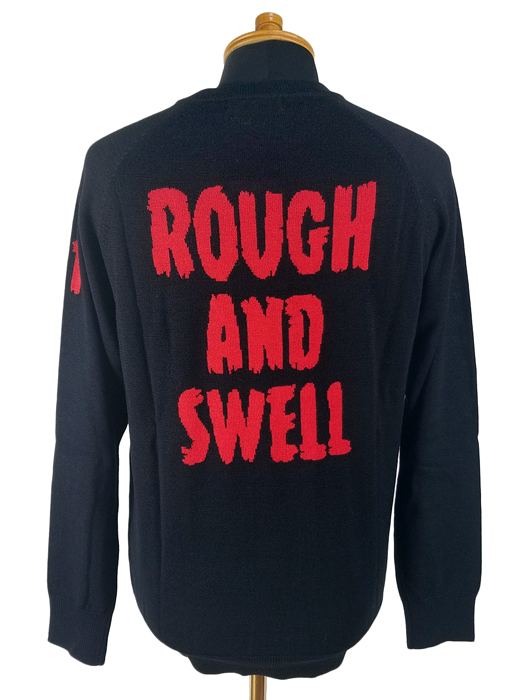 rough&swell ラフアンドスウェル クルーネックニット ブラック G.I.D. KNIT  RSM-19264 / ラフ&スウェル ゴルフウェア メンズ