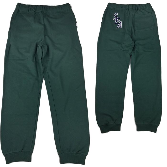 WIND AND SEA ウィンダンシー S-E-A SWEAT PANTS スウェットパンツ グリーン WDS-19A-PT-01 /パンツ