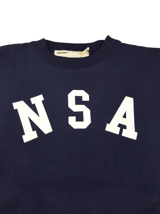 NAISSANCE ネサーンス GRAPHIC SWEAT CUT-SEWN スウェット ネイビー 20S-NSA-CS-03