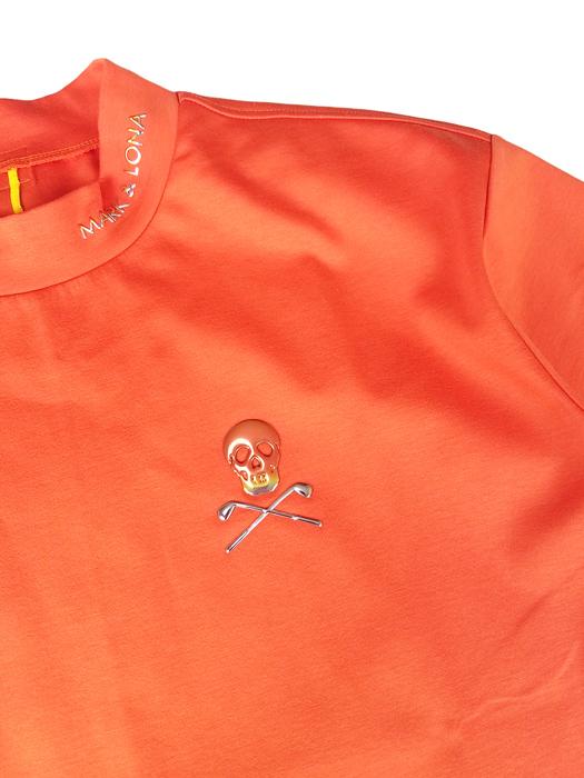 【木村拓哉さん着用モデル】MARK&LONA マークアンドロナ Titan Mock Neck Tee | MEN モックネック Tシャツ オレンジ MLM-0A-AA02