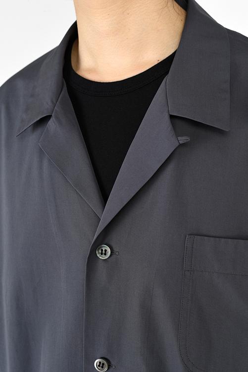 LAD MUSICIAN ラッドミュージシャン BIG PAJAMA SHIRT ビッグパジャマシャツ グレーパープル 2121-102