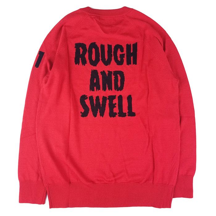 rough&swell ラフアンドスウェル クルーネックニット レッド G.I.D. KNIT  RSM-19264 / ラフ&スウェル ゴルフウェア メンズ