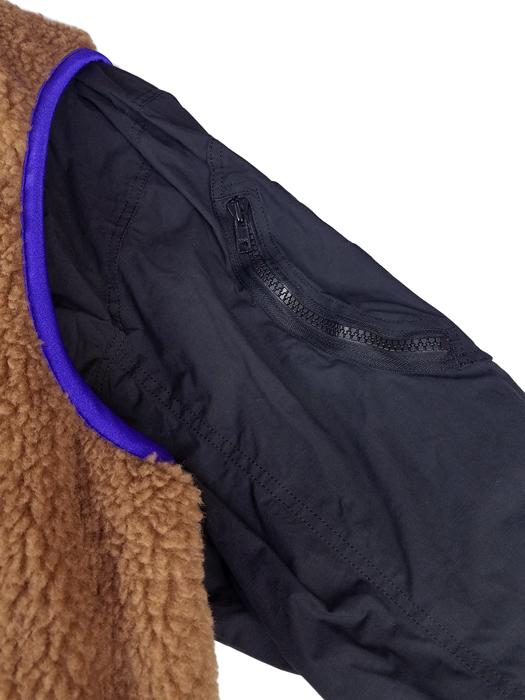 kolor BEACON カラービーコン ボアレイヤードブルゾン ブラック 20WBM-G01132