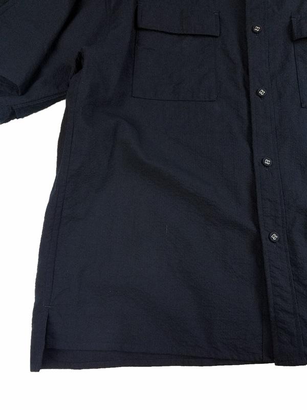 White Mountaineering ホワイトマウンテニアリング SEERSUCKER WIDE SLEEVES SHIRT ワイドシャツ ネイビー WM2171112