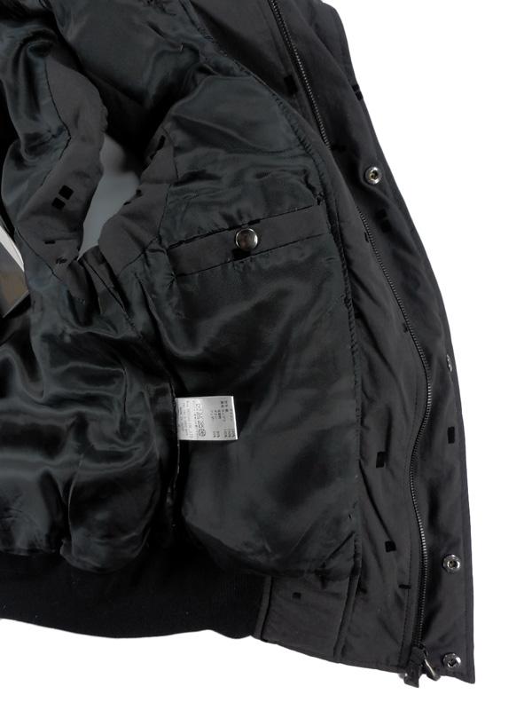 MofM マンオブムーズ ダウンベスト フロッキープリント ブラック 3110-JK24 / マンオブ man of moods