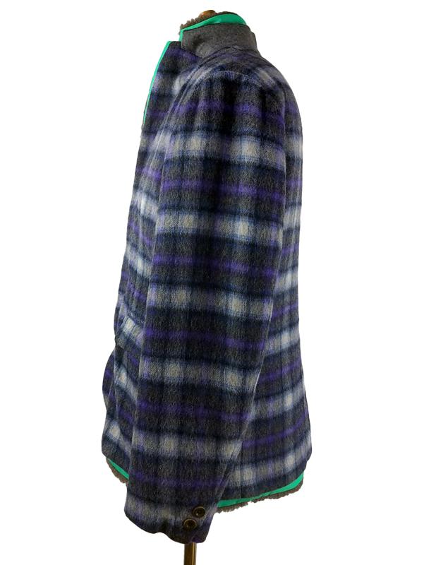kolor BEACON カラービーコン ウールチェック ジャケット グレー 20WBM-J01133