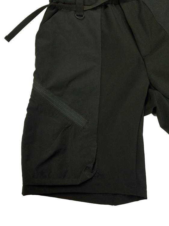 White Mountaineering ホワイトマウンテニアリング STRETCHED CARGO SHORT PANTS ショートパンツ ブラック WM2171401