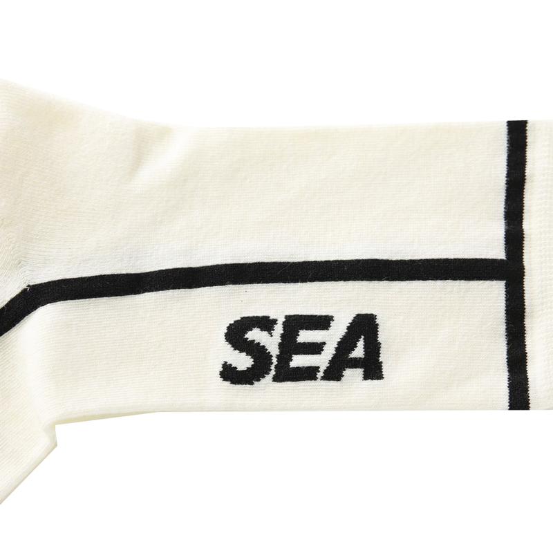 WIND AND SEA ウィンダンシー CHICSTOCKS×WDS Line sox ソックス ホワイト(ブラック) WDS-21S-GD-05