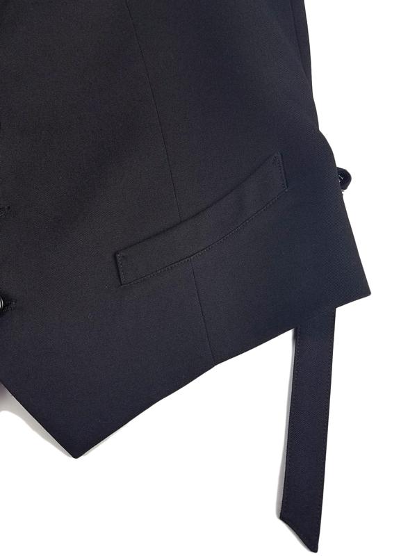 sulvam サルバム Gaba gillet ジレ ブラック SL-V01-100 / ベスト
