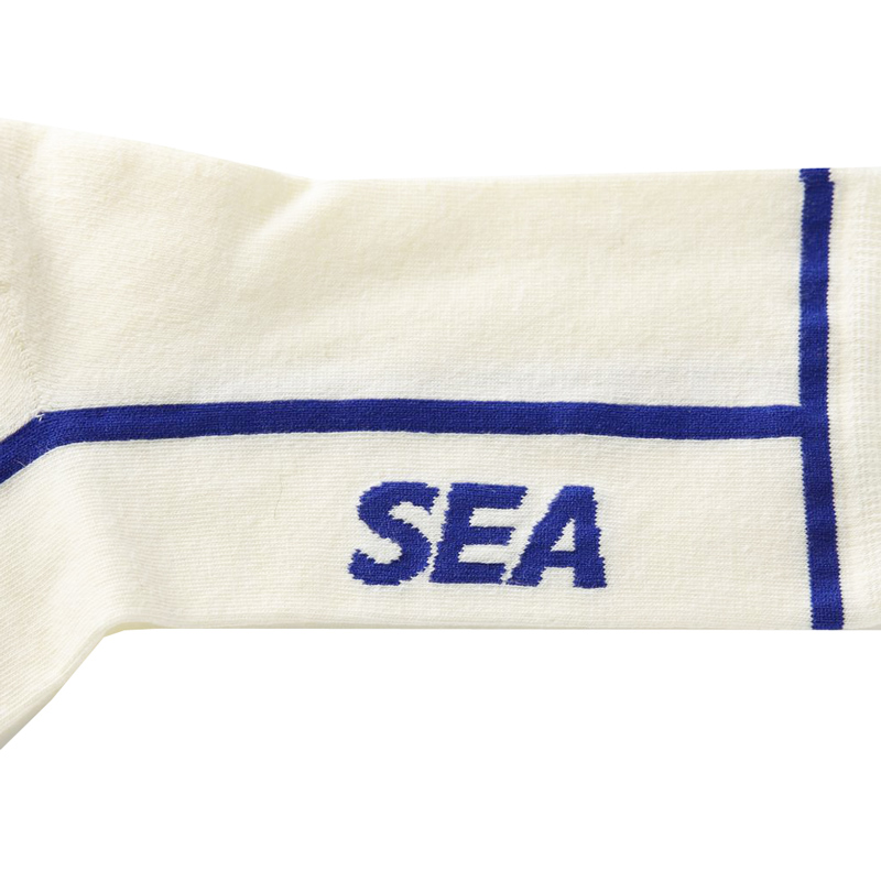 WIND AND SEA ウィンダンシー CHICSTOCKS×WDS Line sox ソックス ブルー WDS-21S-GD-05