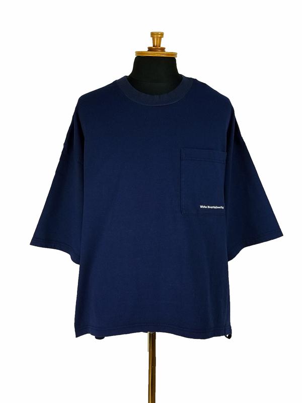 White Mountaineering ホワイトマウンテニアリング WIDE ASYMMETRY T-SHIRT ワイドアシンメトリーTシャツ ネイビー WM2173507