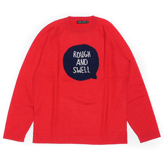 rough&swell ラフアンドスウェル ニット Stamp Knit レッド RSM-18278 / ラフ&スウェル ゴルフ メンズ