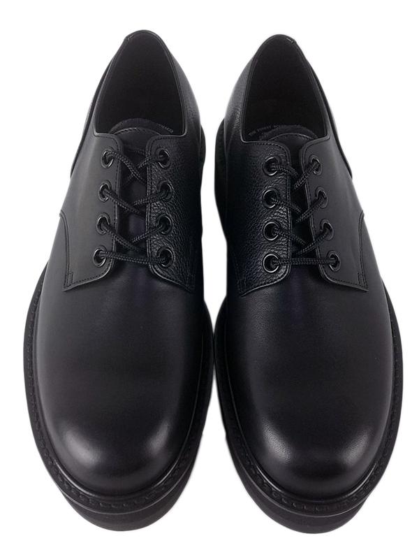 foot the coacher フットザコーチャー プレーントゥシューズ ブラック CHAOS PALIN SHOES FTC2012003