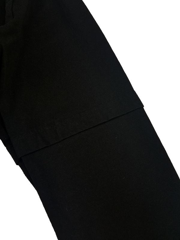 White Mountaineering ホワイトマウンテニアリング FAKE LAYERED LONG SLEEVE T-SHIRT レイヤードロングスリーブTシャツ ブラック WM2173508