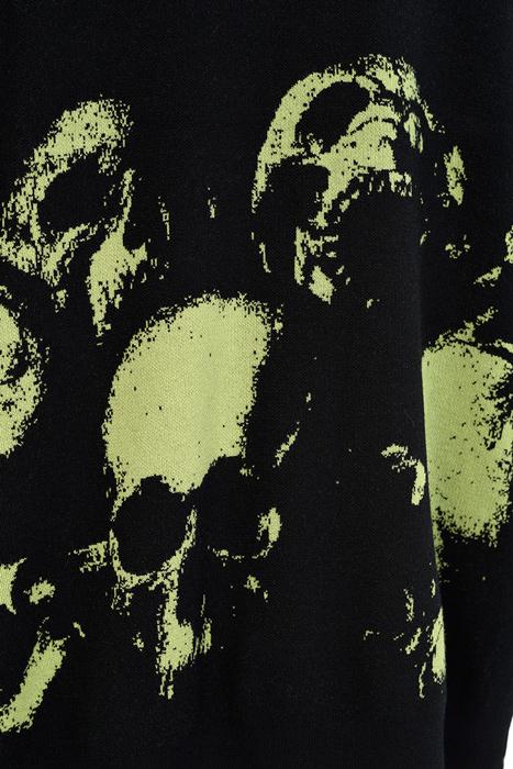 LAD MUSICIAN ラッドミュージシャン BIG VEST ビッグベスト ブラック×イエローグリーン 2220-003