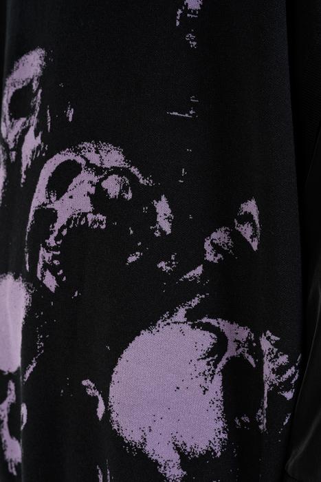 LAD MUSICIAN ラッドミュージシャン BIG VEST ビッグベスト ブラック×パープル 2220-003