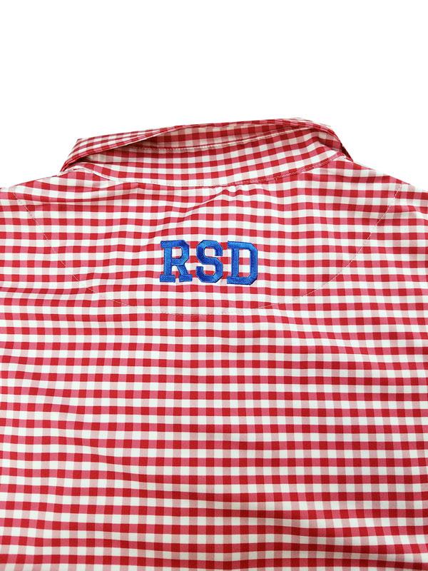 rough&swell ラフアンドスウェル PREPPY POLO ギンガムポロシャツ レッド RSM-21021 / ゴルフウェア メンズ ラフ&スウェル