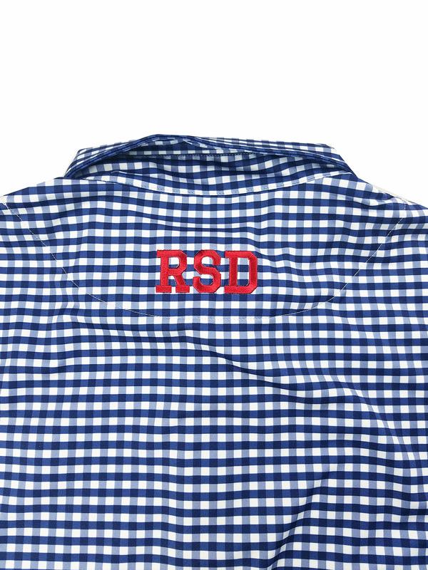 rough&swell ラフアンドスウェル PREPPY POLO ギンガムポロシャツ ネイビー RSM-21021 / ゴルフウェア メンズ ラフ&スウェル