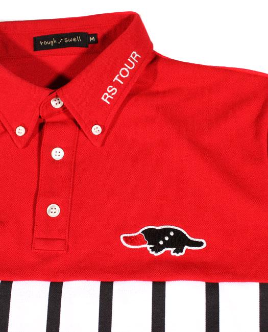 rough&swell ラフアンドスウェル ポロシャツ レッド MARIO RSM-18011 / ラフ&スウェル ゴルフ