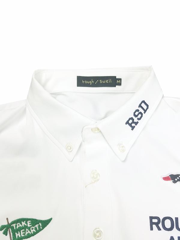 rough&swell ラフアンドスウェル TAKE HEART POLO ポロシャツ ホワイト RSM-21004 / ゴルフウェア メンズ ラフ&スウェル