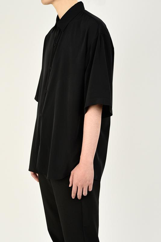 LAD MUSICIAN ラッドミュージシャン SHORT SLEEVE BIG SHIRT 半袖ビッグシャツ ブラック 2321-101
