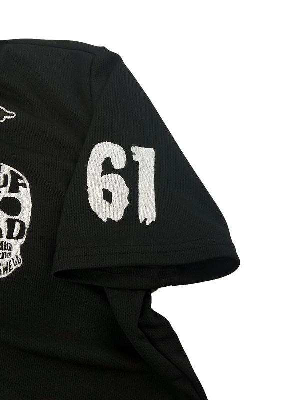 rough&swell ラフアンドスウェル SKULL POLO ポロシャツ ブラック RSM-21007 / ゴルフウェア メンズ ラフ&スウェル