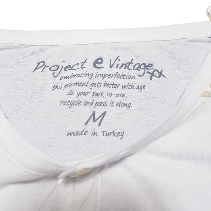 Project e プロジェクトイー カットソー ホワイト ヘンリーネック Tシャツ 510991384051 / projecte プロジェクト イー