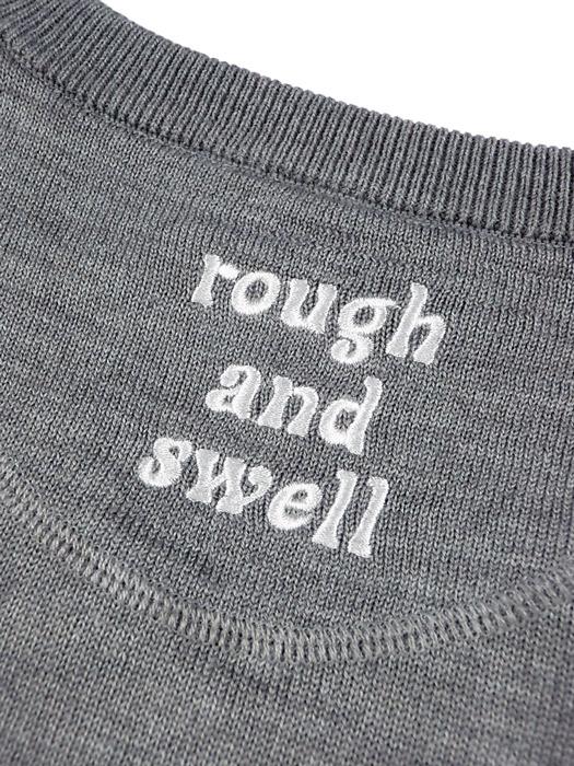 rough&swell ラフアンドスウェル BBC V-NECK Vネックニット グレー RSM-20275 / ゴルフウェア メンズ ラフ&スウェル