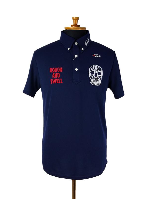 rough&swell ラフアンドスウェル SKULL POLO ポロシャツ ネイビー RSM-21007 / ゴルフウェア メンズ ラフ&スウェル