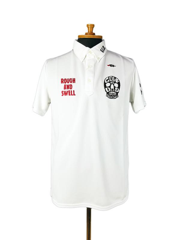 rough&swell ラフアンドスウェル SKULL POLO ポロシャツ ホワイト RSM-21007 / ゴルフウェア メンズ ラフ&スウェル