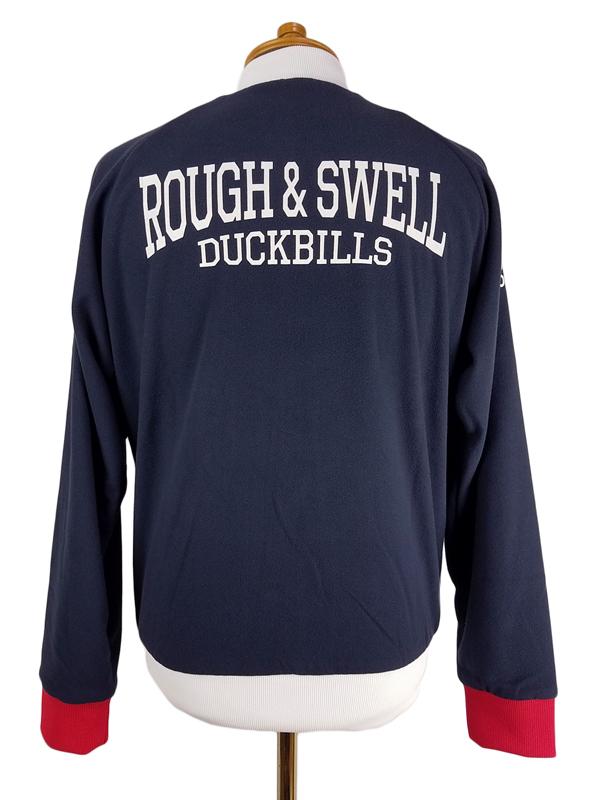 rough&swell ラフアンドスウェル フリース トラックトップ ネイビー RED RIB PARIS TRACK TOP RSM-19205 / ラフ&スウェル ゴルフウェア メンズ