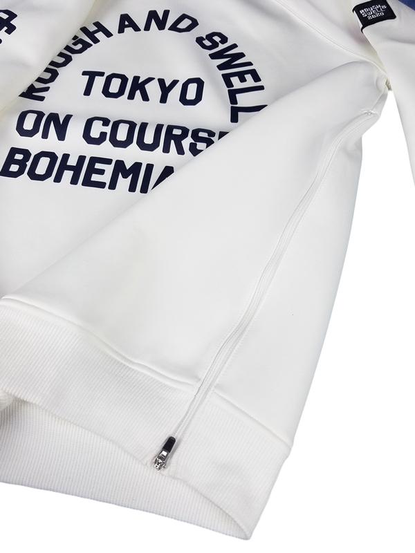 rough&swell ラフアンドスウェル スウェット ホワイト BOHEMIANS SWEAT RSM-19206 / ラフ&スウェル ゴルフウェア メンズ