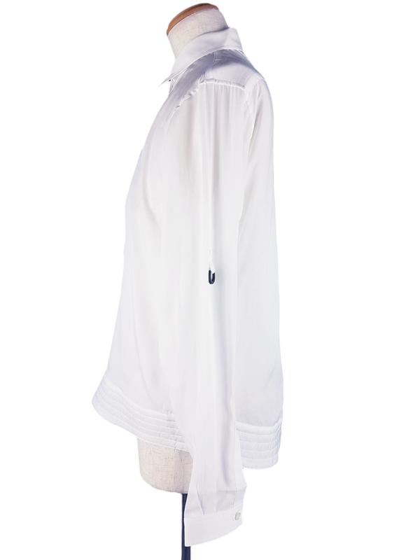 yoshio kubo ヨシオクボ プルオーバーシャツ ホワイト YKS13213 /ポロシャツ