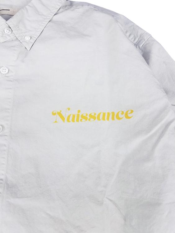 NAISSANCE ネサーンス ILLUSTRATION SHIRT A by Jody Asano イラストシャツ グレー21A-NSA-SH-02