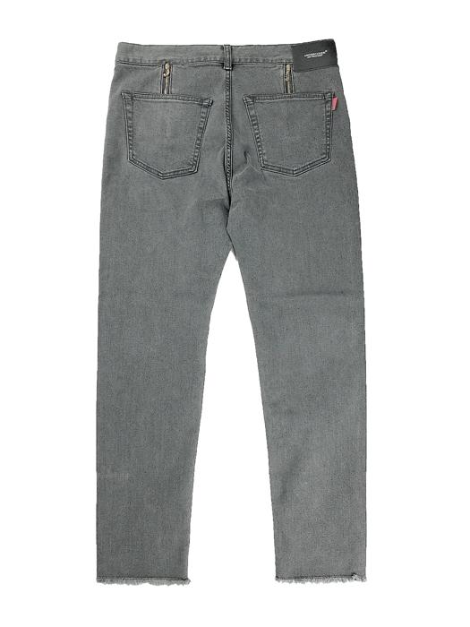 UNDERCOVER アンダーカバー 裾タチキリストレッチカツラギ PT  グレー UC1A4509-1