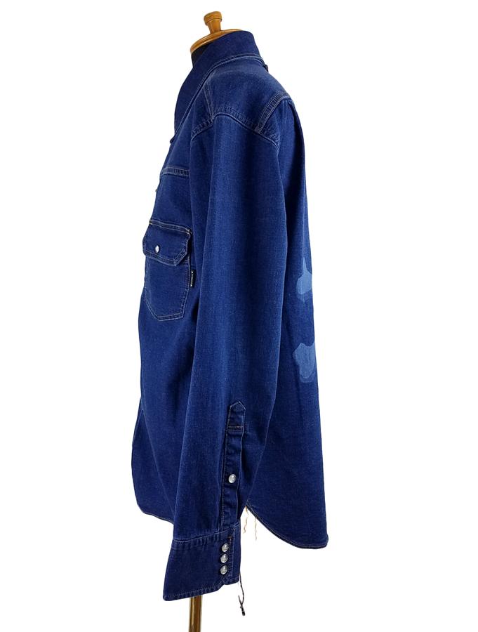 mastermind JAPAN マスターマインドジャパン ライトオンスデニム デニムシャツ 撥水+ダメージ インディゴ MJ20E04-SH025-001 / シャツ