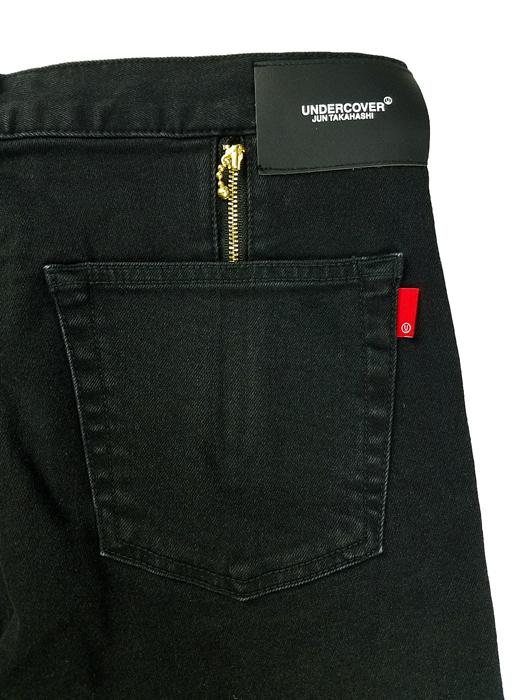 UNDERCOVER アンダーカバー 裾タチキリストレッチカツラギ PT  ブラック UC1A4509-1
