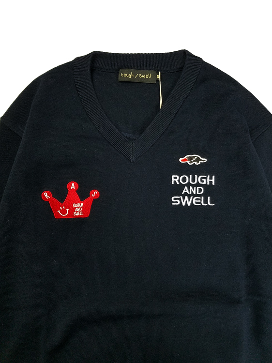 rough&swell ラフアンドスウェル CROWN TOUR V-NECK Vネックニット ネイビー RSM-21088 / ゴルフウェア メンズ ラフ&スウェル