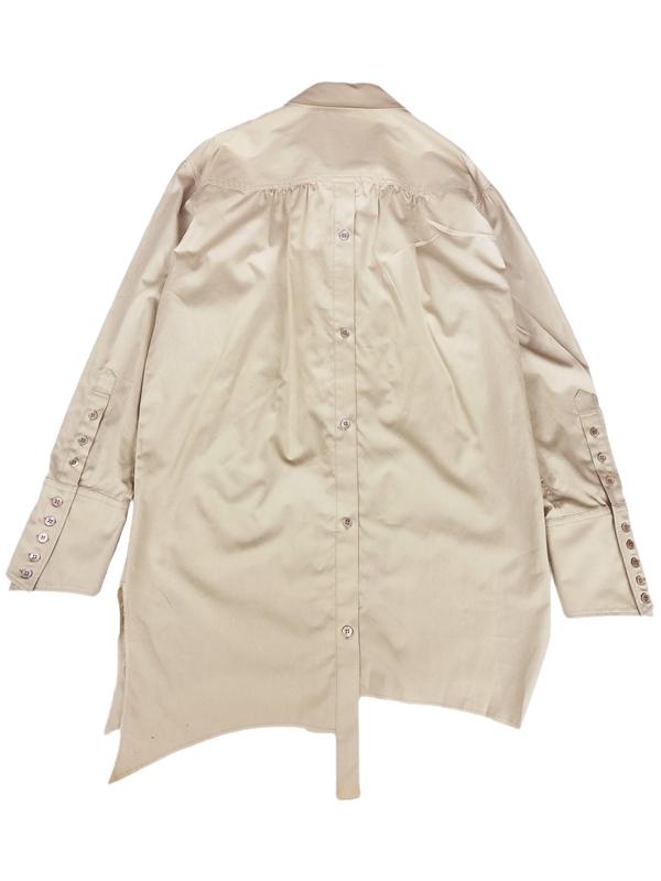 sulvam サルバム ダブルオープンシャツ ベージュ double open SH SK-B04-001