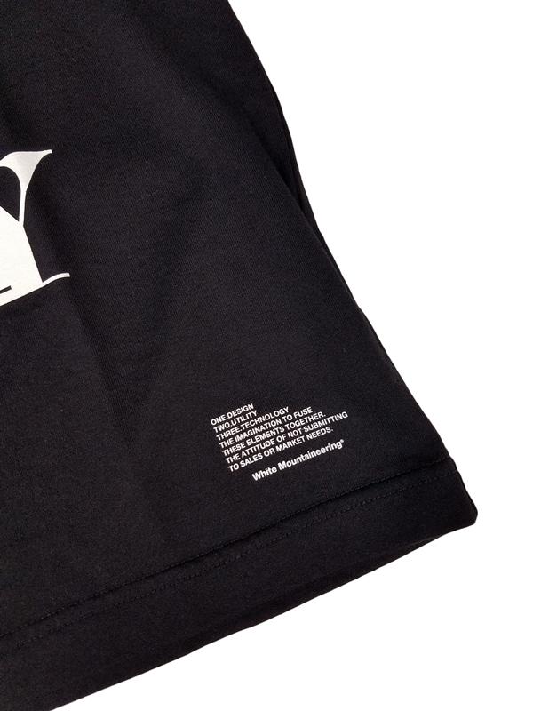 White Mountaineering ホワイトマウンテニアリング PRINTED T-SHIRT 'RANDAM' プリントTシャツ ブラック WM2071504