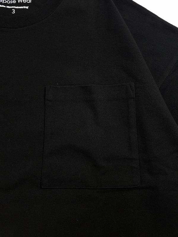 White Mountaineering Repose Wear ホワイトマウンテニアリング LAYERED WIDE T-SHIRT レイヤードワイドTシャツ ブラック RW2171501
