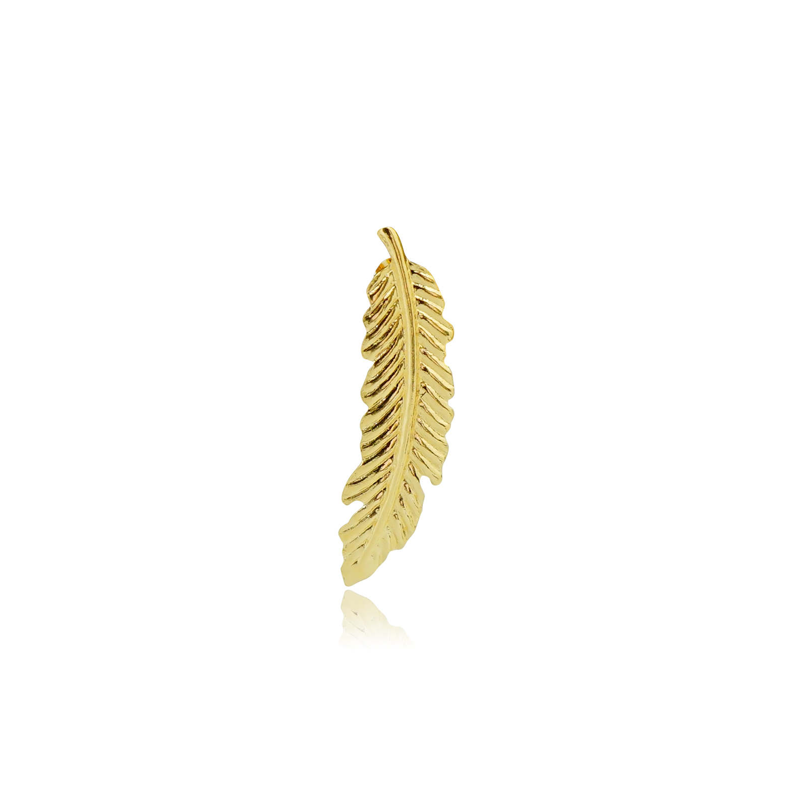 片売り・K18フェザーピアス(Yellow Gold)