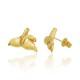 【ホエールテールピアス(Yellow Gold) 】ハワイアンジュエリー クジラ ピアス ハワイモチーフ K14 ゴールド アクセサリー プレゼント ピアス スタッド ギフト